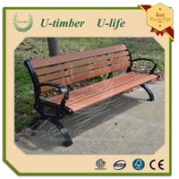 wpc bench decorative metal wood benches outdoor wpc iron bench