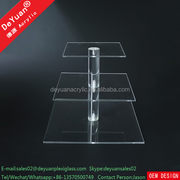 China Cake Stand With Single Box Square