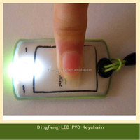 Custom Shaped Promotional Led key ring, led keyring light, led light with keyring