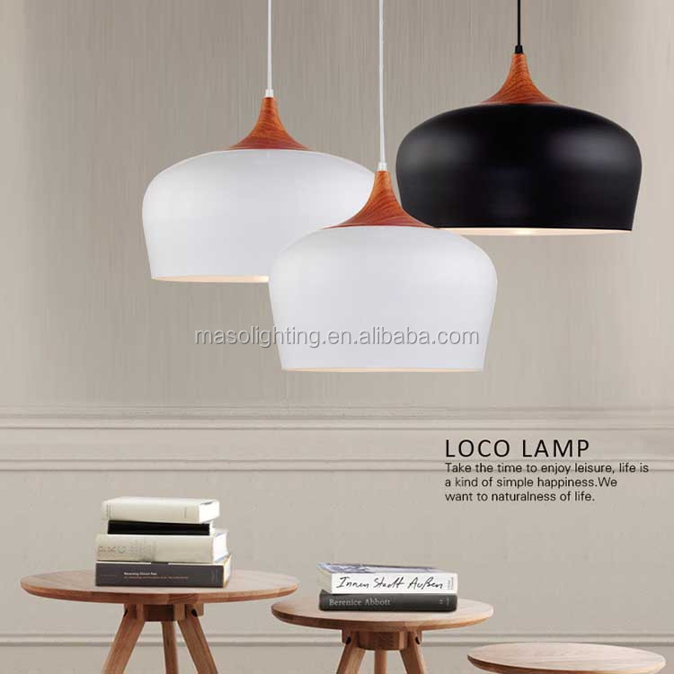 European Simple Stylish Metal Suspended Light Modern Kitchen Dinning room Cafe wooden Pendant lamp Art decoration Droplight