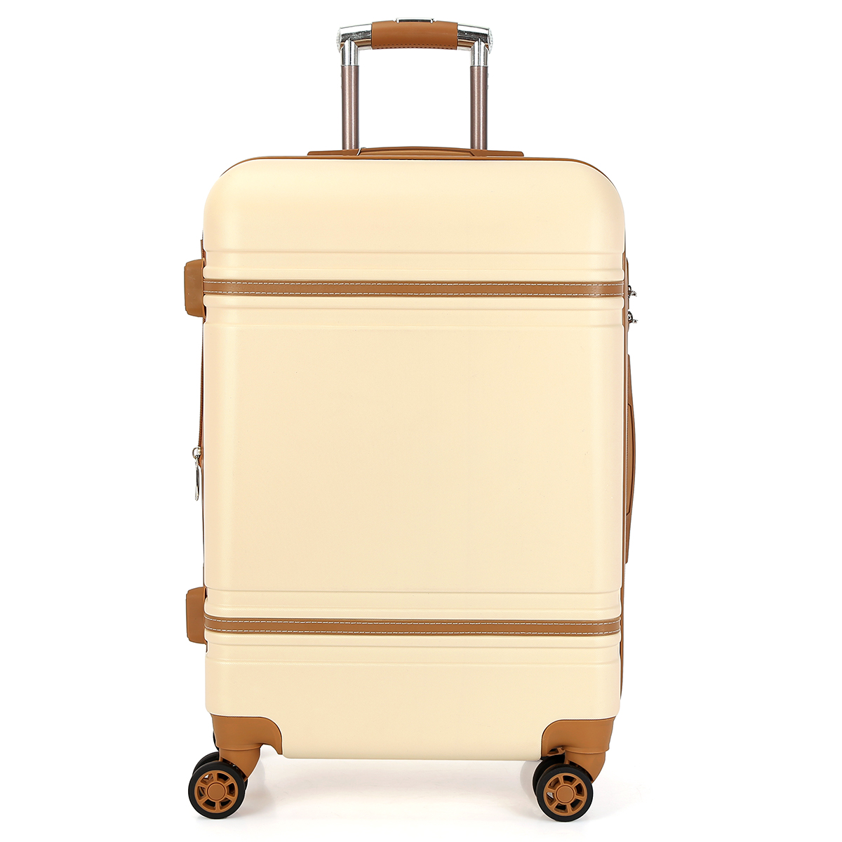 3 Piece Set Zipper Plastic Hard Abs Trolley Luggage
