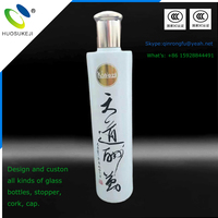 Chinese traditional style glass bottle for wine decorative whiskey spirits vodka