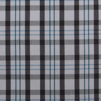 stock combed cotton quick dry plaid stretch fabric