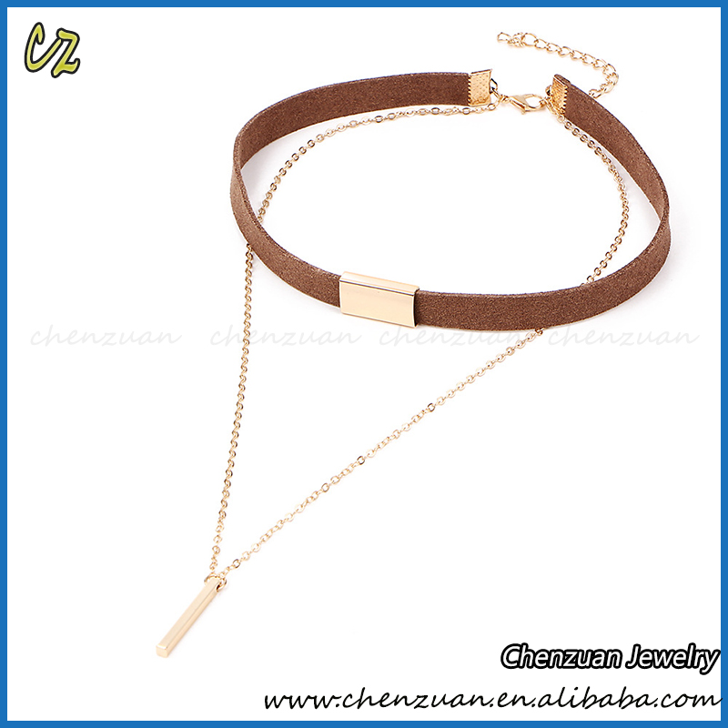 2017 Hot sale personalized jewelry choker necklaces with metal chains