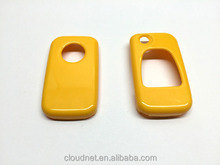 Triangle Key Pad Remote Flip Key Protection Case Gloss Yellow Color For Mercedes Benz