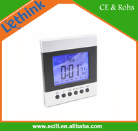 Fujian supplier plastic weather station LCD digital alarm clock