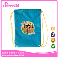 Wholesale Reusable Bag Custom carton polyester Drawstring Bag