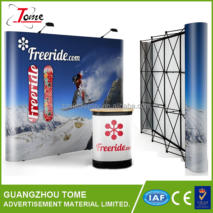 Custom print advertising use oval pop up banner new Factory price Pop up banner stand polyester banner for display