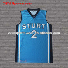 Newest design custom blue basketball uniforms for teams