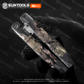 Factory supplied camo-coating handle Folding Camping crimping pliers