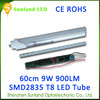 Factory direct sale with LVD CE&RoHS t8 led tube 8w-22W,2 feet 3feet 4feet led lamp for house