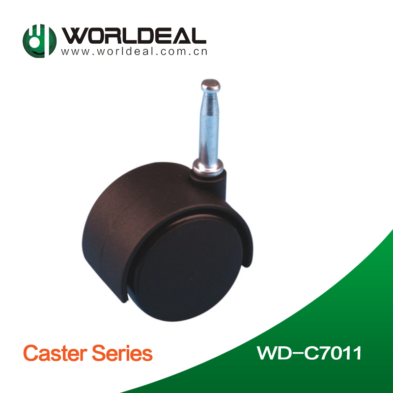 Black color office chair caster with screw