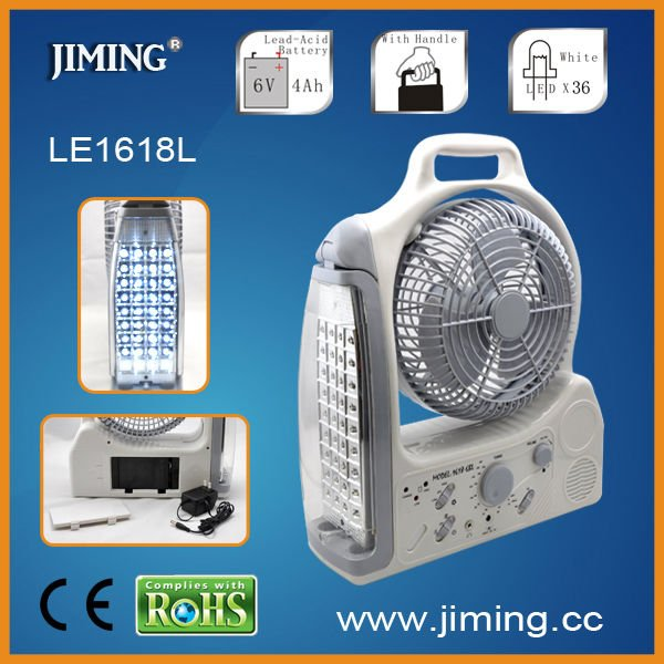 Rechargeable emergency fan with light ,lantern with LED or Tube-LE1618L