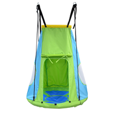 Factory Garden Round Rattan Outdoor Metal Fabric Hanging Patio Spinner Tree Swing Chair Tent For Children