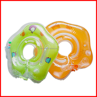 High quality double handle With bells safe double protection PVC inflatable baby swim ring