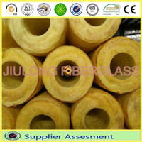 waterproof thermal insulation aluminium faced glasswool pipe insulation made in china(factory)