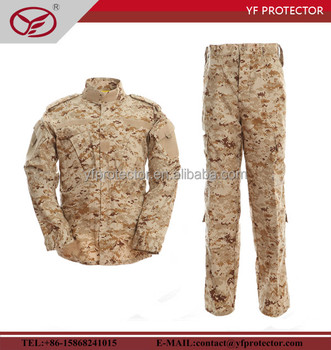 desert color army uniform with Polyester material