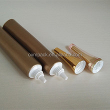 D19 MM,Plastic empty cosmetics packaging tube,ABL plastic tube with Nozzle Insert and horn cap for concealer