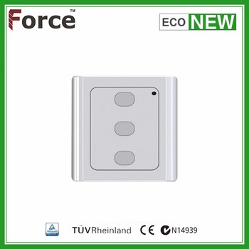 New wireless white wall switch with rolling code technology