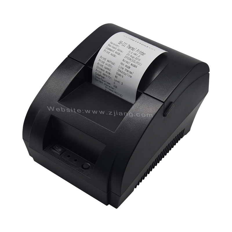 Small ticket printers zj 5890k with driver wired usb cable pos printer
