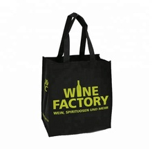 Custom Tote Water Carry 6 Bottles Cooler Non Woven Jute Wine Bag