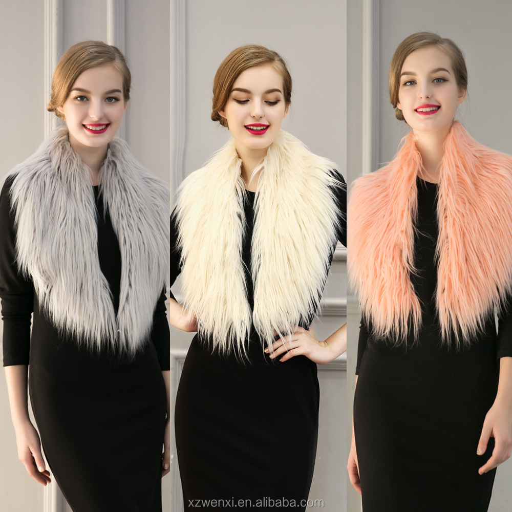 Europe and USA style 2016 new product high-grade imitation fur faux collar scarf