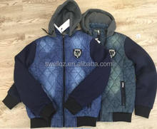 China wholesaler stocklots new design jacket with hoody for men