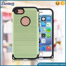 Popular hybrid plastic brush finish cell phone case for iphone 5 5s SE