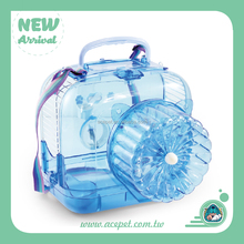 Transparent Plastic Travel Hamster Cage
