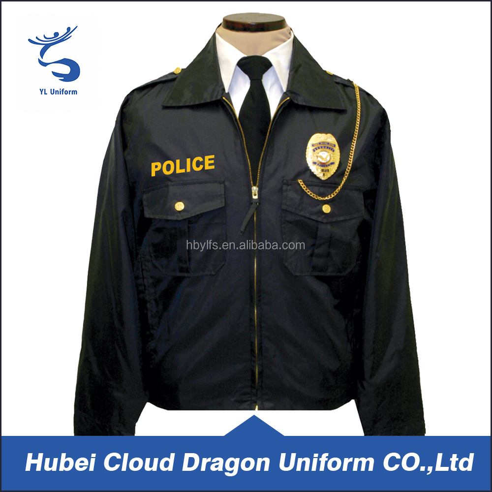 Plus Size Brand Men Formal Security Guard Uniform Jackets Police