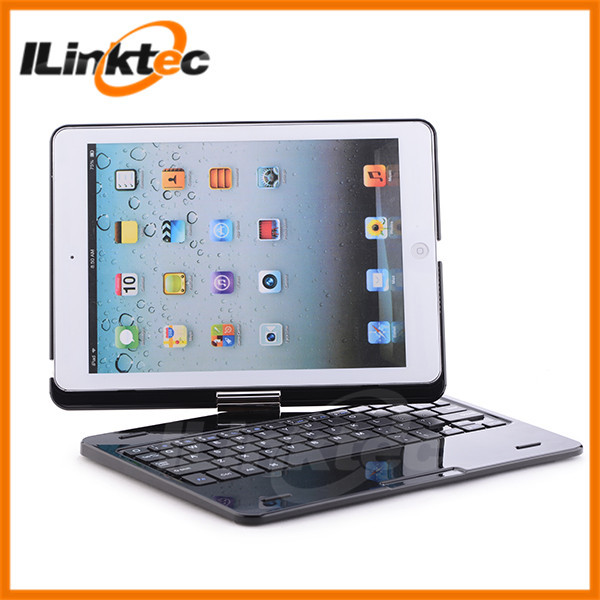 New arrival! 360 rotation bluetooth keyboard case for ipad mini, with deluxe Piano painting apperance