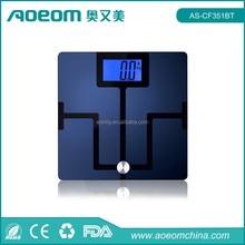 China supplier digital health & medical electronic body fat bluetooth scale
