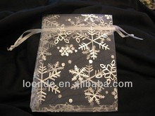 Brand new sliver snowflakes organza christmas bags