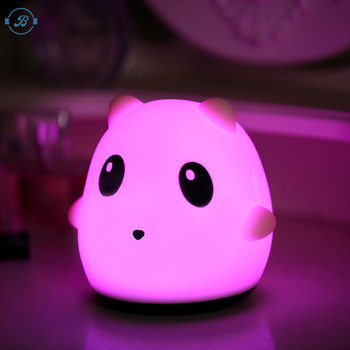 Portable cute panda shape Silicone Led Night Light,Touch Sensor Beside Led Table Lamp,rechargeable night lamp
