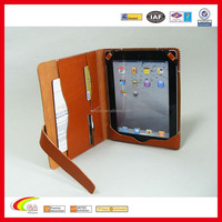Genuine Leather Porfolio Sleeve Cover with Card Holder for iPad mini