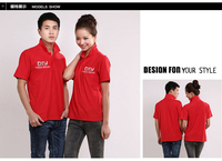 custom printed promotional logo 100 cotton polo t shirts/ OEM unisex shirts in Guangdong, China