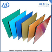 Mouldproof aluminum composite panel decorative plastic wall covering sheets