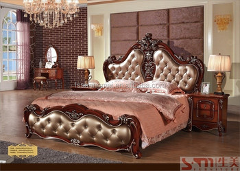 king size canopy bedroom sets royal luxury bed hot sale american ...