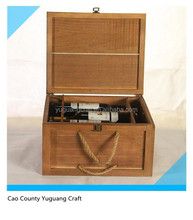Best Price Varnishing Pine Wood Six Bottles Wine Box