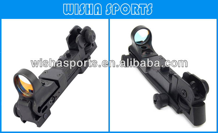 C-More Style Airsoft Red Dot Sight Reflex with AR Rear Iron Sight Black
