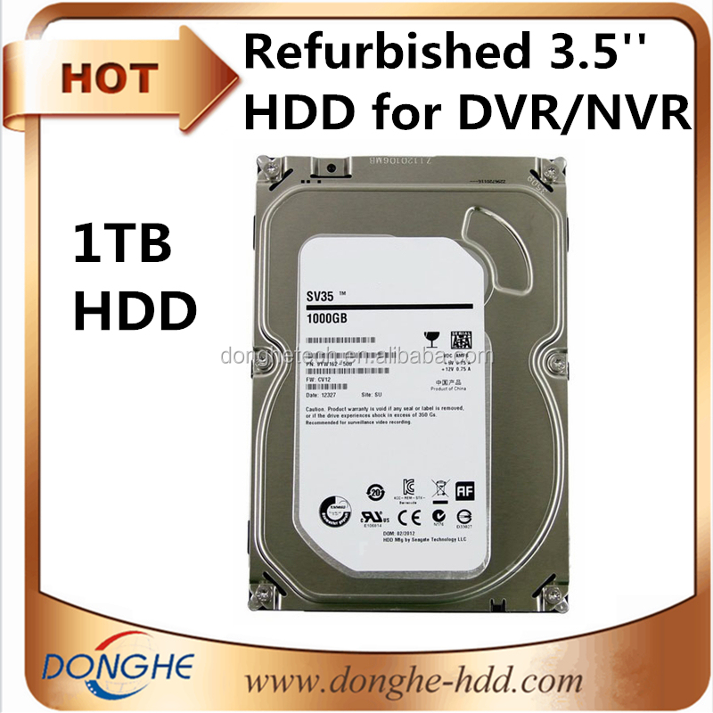 hdd hard drive DVr/NVR hard disk 1tb SATA 5400rpm 3.5'' wholesale used hard drives