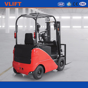 2000kg 3 m Electric Forklift with 2 stage Full Free Mast, Free Lift 1505mm