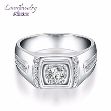 Custom design 0.25 Carat big diamond man rings wedding gents