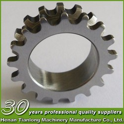 "ISO standard pitch 25.4mm duplex roller chain finished bore sprocket keyway convex 1"" driving sprocket"