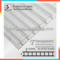 10mm transparent crystal breeding greenhousespolycarbonate sheet