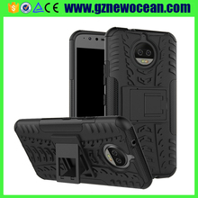 Factory price Fashion 2 in 1 TPU PC Hybrid Kickstand cell phone <strong>case</strong> for MOTO G5S Plus