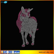 hot sale diamante hotfix nailheads transfer tape Unicorn Horse silhouette designs