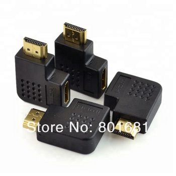 High quality HDMI Male to Female Adapter 90 Degree Angle Connector Converter
