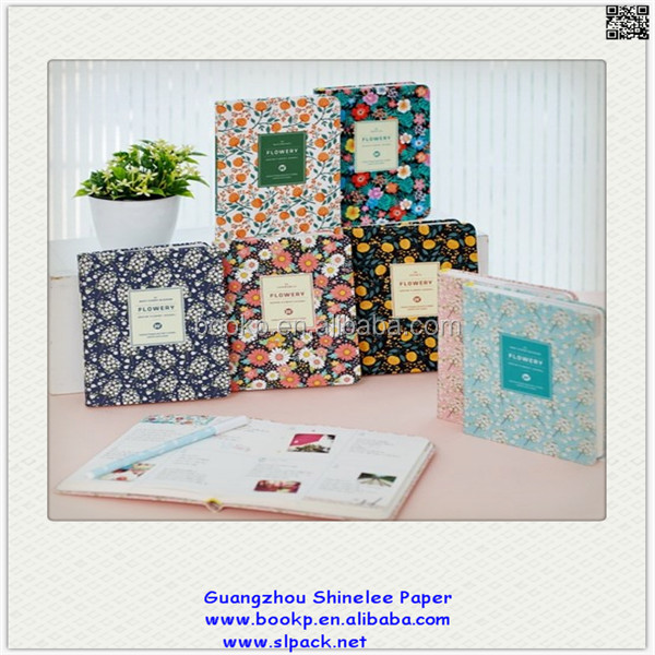custom notebook and diary and notepad with leaves and flowers cover