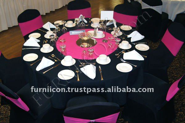 Spandex Chair Covers fuschia bands